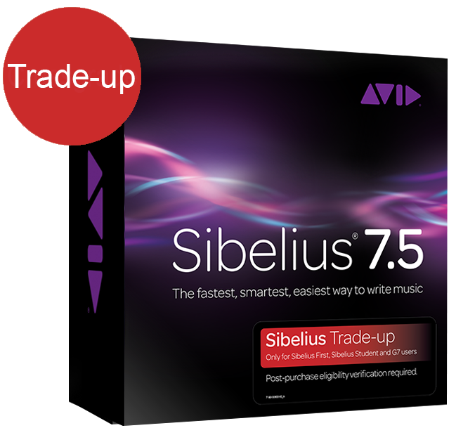 Sibelius 7 5 Trade-Up From Sibelius First | Commercial Music
